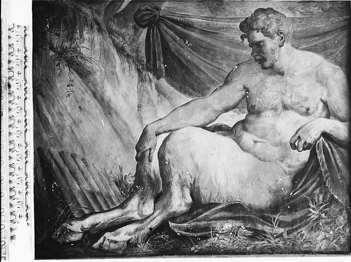 File:Domaine national, château - Peintures murales de la galerie Henri II, Pan - Fontainebleau - Médiathèque de l'architecture et du patrimoine - APMH00027959.jpg