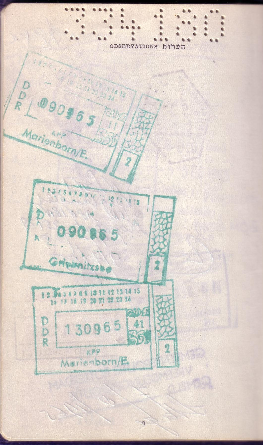 FileEast West Berlin Border Crossing Stamps In An Israeli Passport