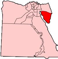 南シナイ県の県域