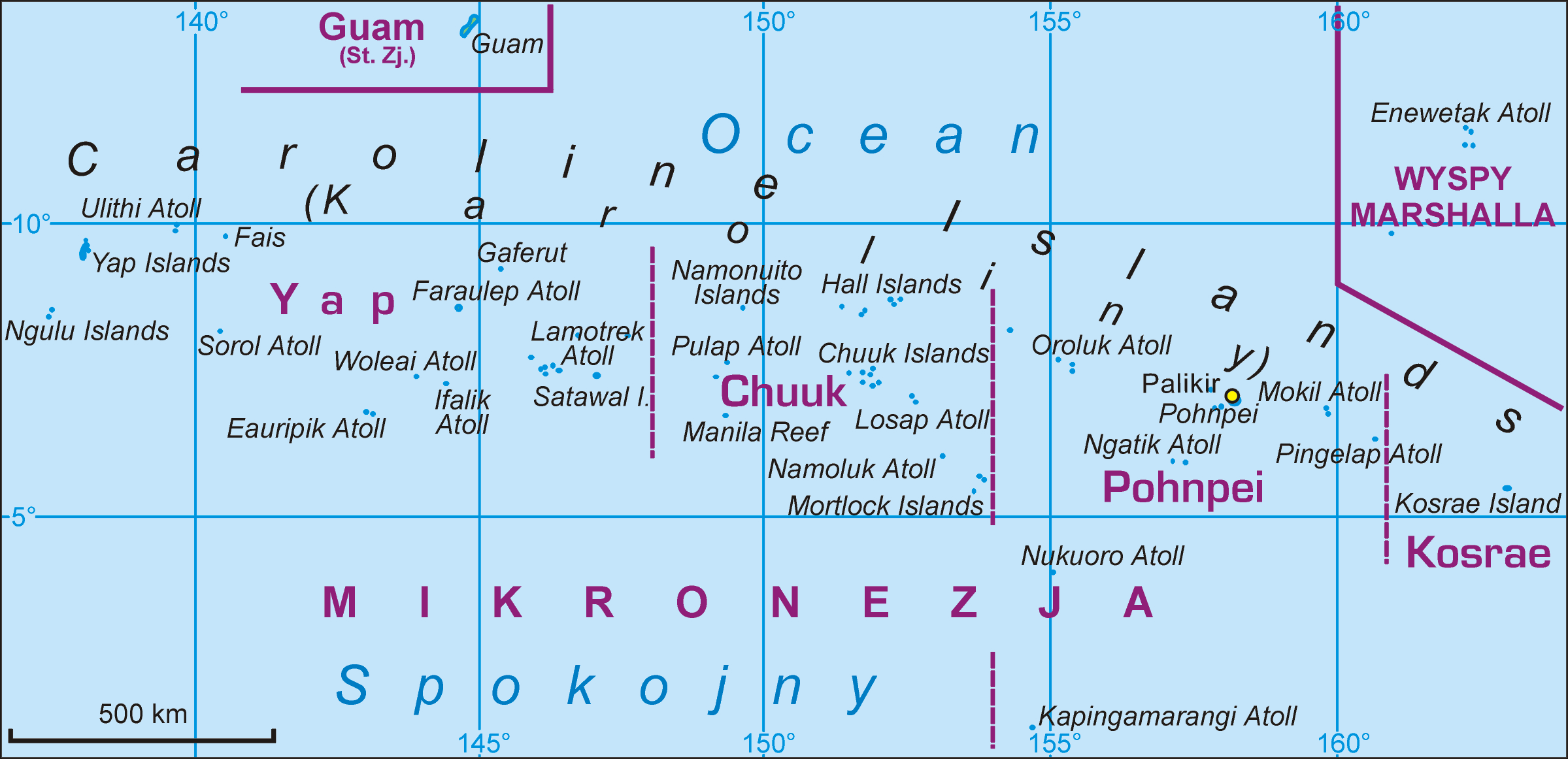 Federated States Of Micronesia Map File:Federated States of Micronesia map PL.png   Wikimedia Commons Federated States Of Micronesia Map