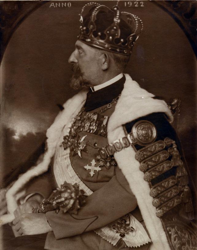 I. Ferdinánd a koronázása után 1922-ben
