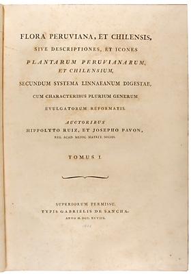 Title page, ''Flora Peruviana, et Chilensis''