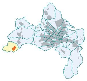 Lage im Stadtkreis Freiburg