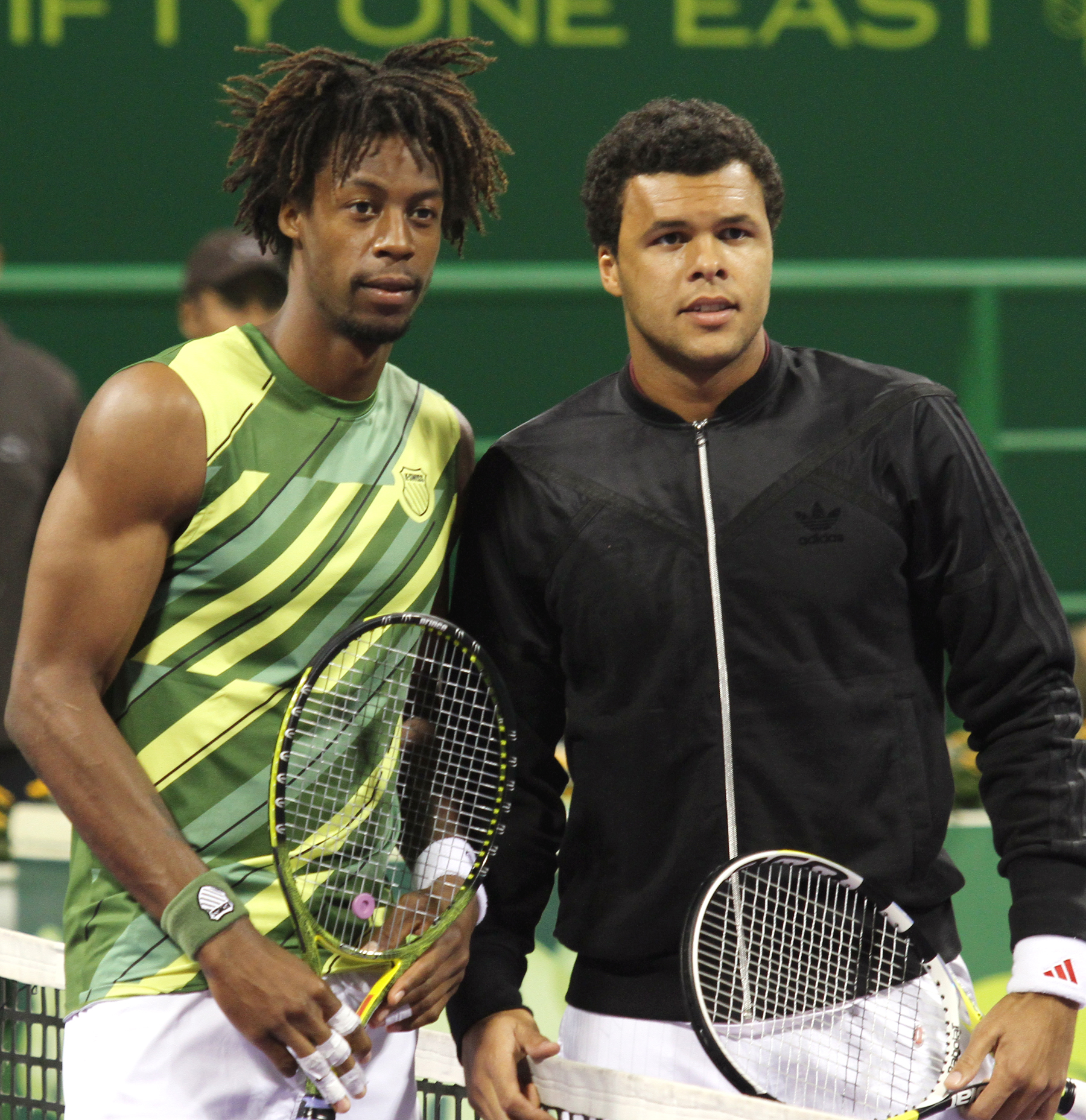 Tennis Players Gael Monfils and Jo Wilfried Tsonga