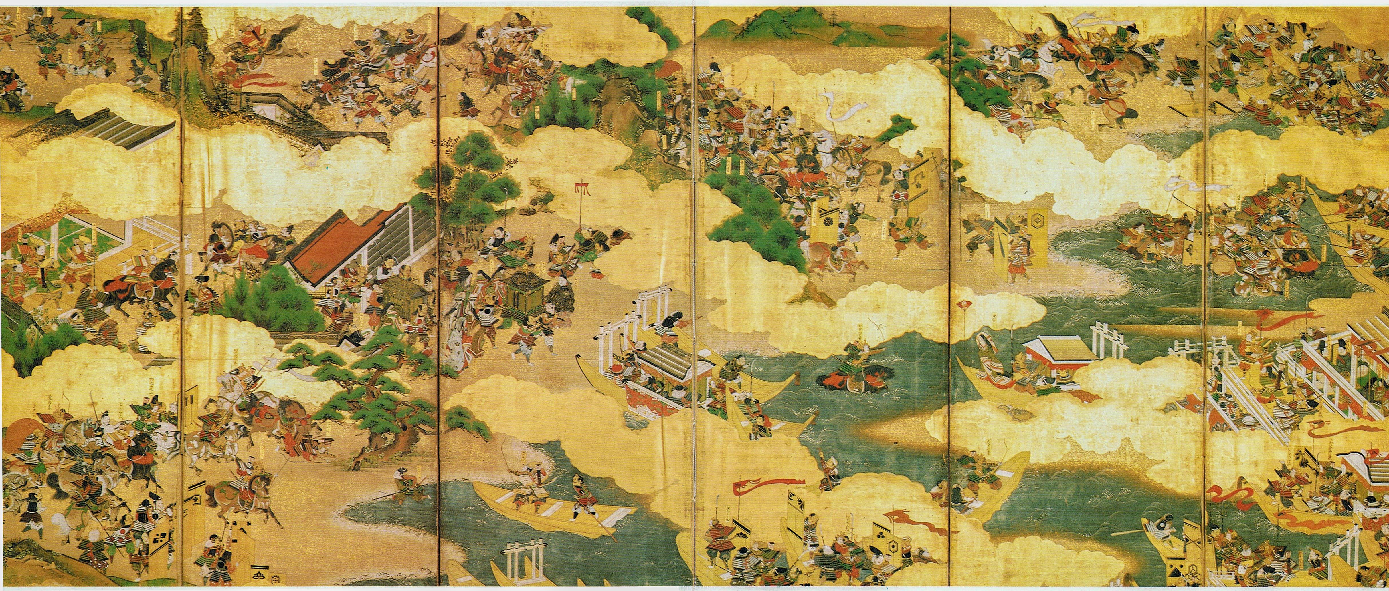 Genpei csata egy festményen