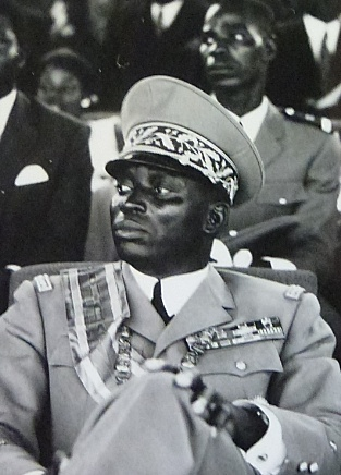 Gnassingbe Eyadema, who would become President of Togo from 1967 until 2005, was one of the major leaders of the 1963 coup. Gnassingbe Eyadema, 1972.jpg