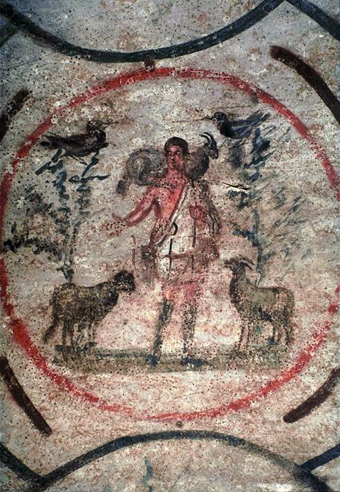 El pastor con el cordero al hombro