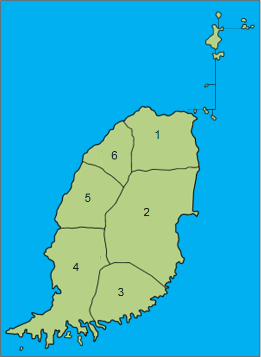 File Grenada Map Without Carriacou And Petite Martinique Png
