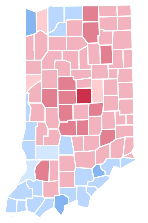 united states presidential election in indiana  1992