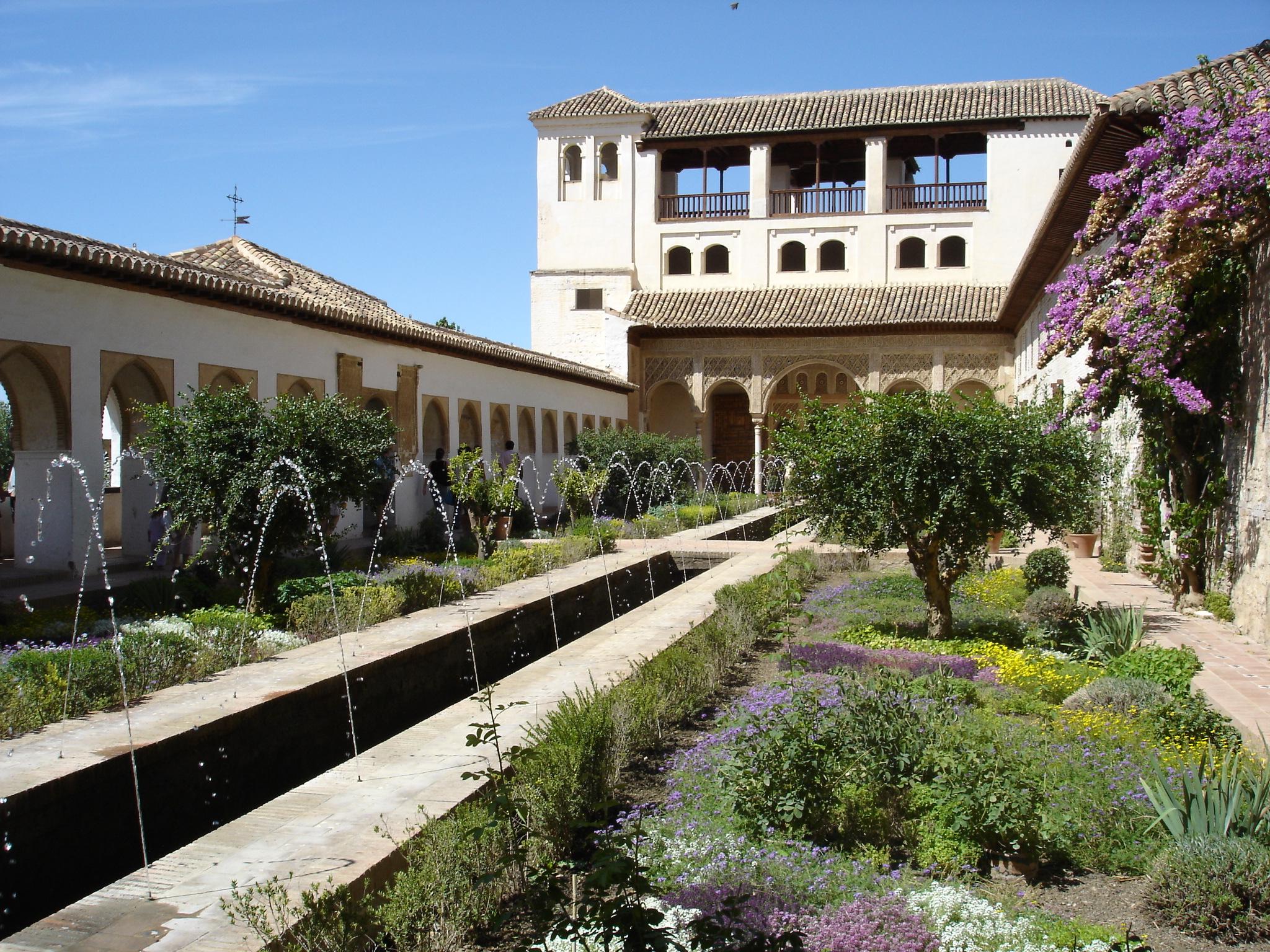 File jardin du generalife jpg wikimedia commons for Jardines alhambra