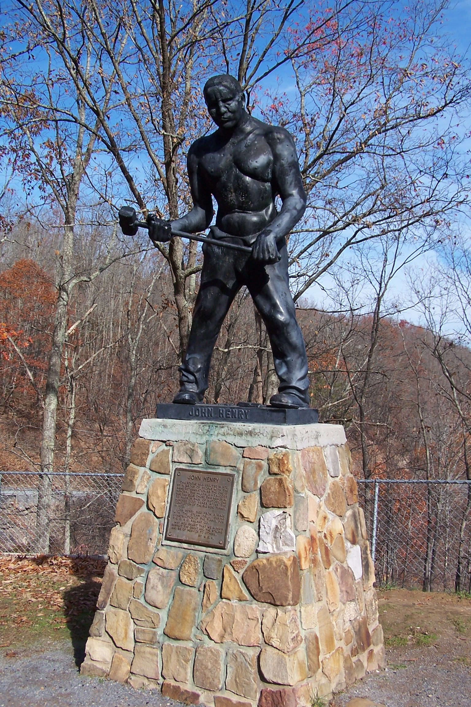 John Henry Statue in Talcott, West Virginia