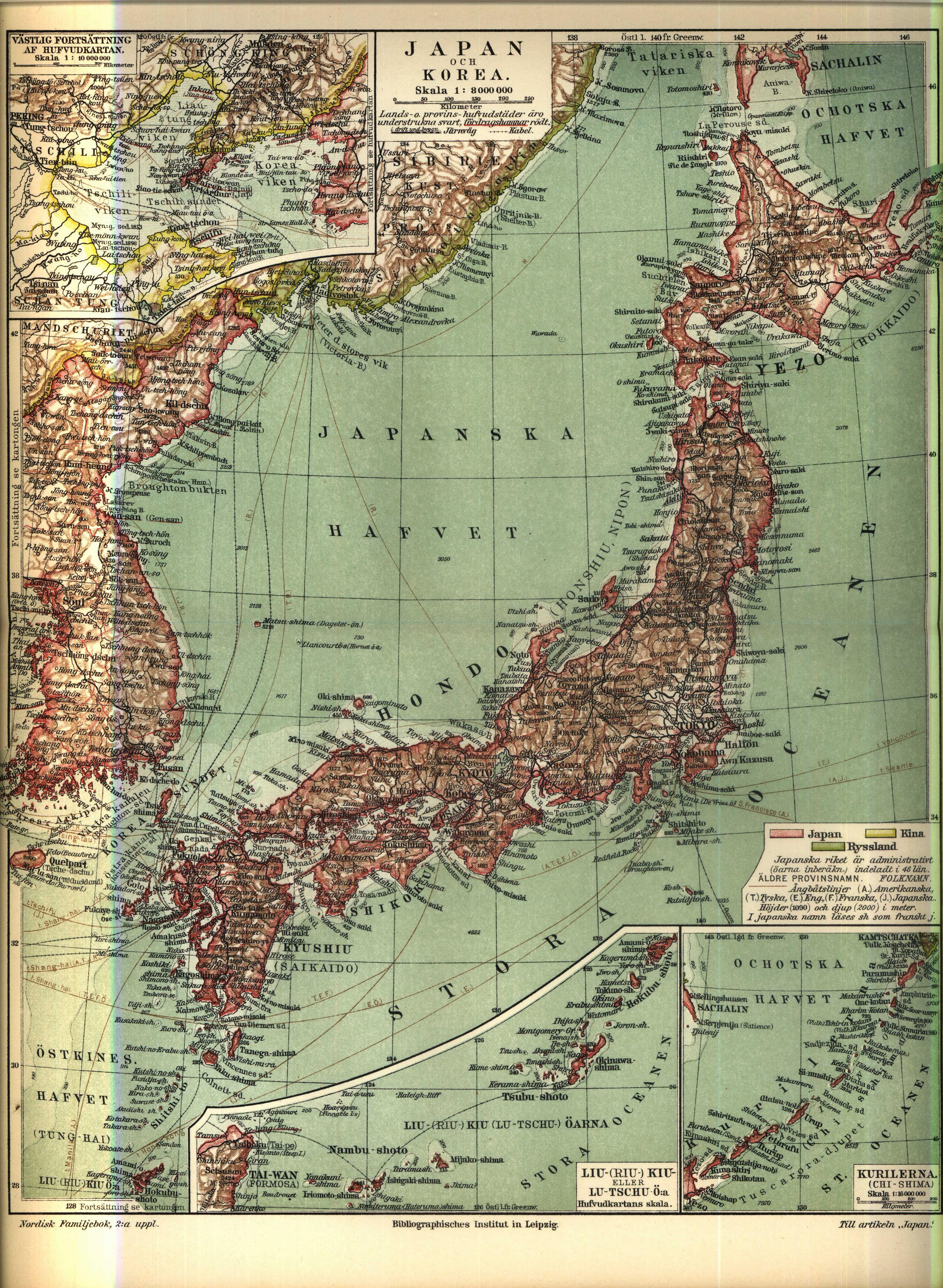 File Karta Over Japan Vid 1900 Talets Borjan Ur Nordisk