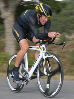 Cyclist Lance Armstrong at the 2008 Tour de Gr...
