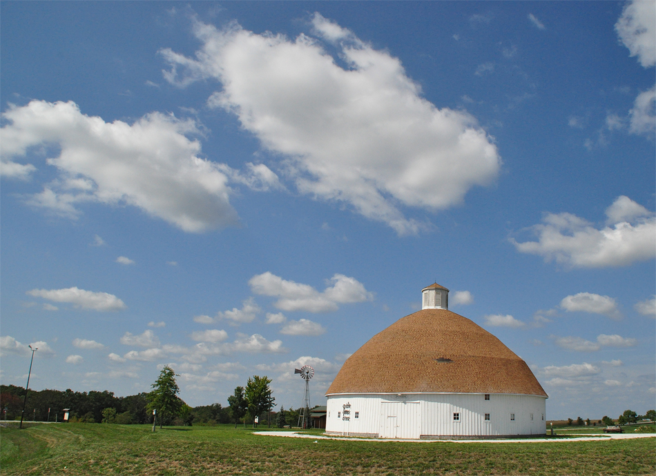 File Lewis Round Barn Adams County Fairgronds Mendon Il