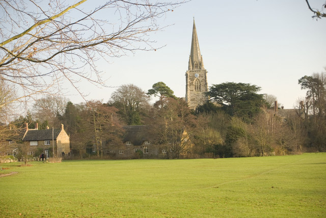 Looking east towards St Mary's Church in East Adderbury - geograph.org.uk - 1138960