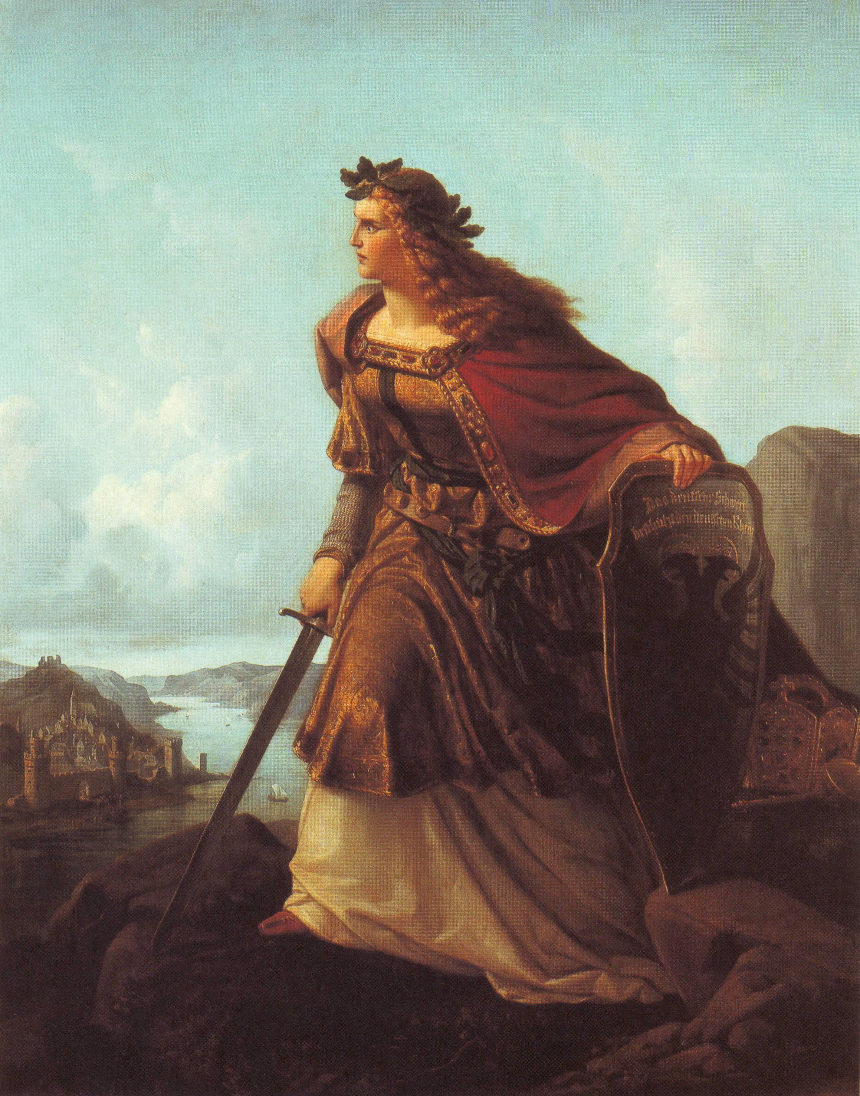Lorenz Clasen 1860 - Germania auf der Wacht am Rhein.png