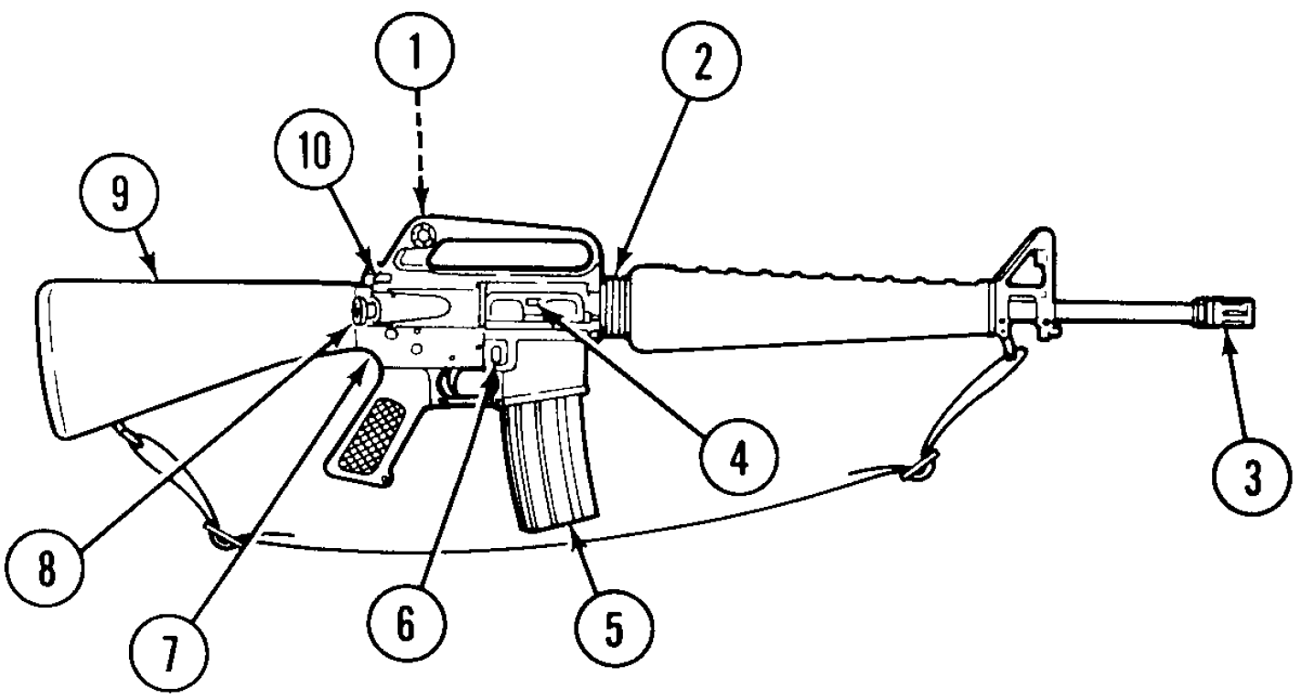 file m16 rifle right side tm 9-1005-249-10 png