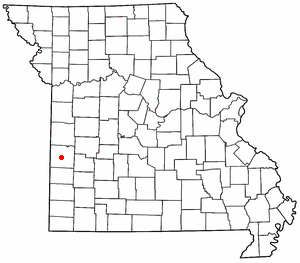 Location of Nevada, Missouri