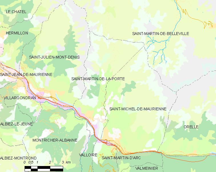 Saint martin de la porte wikidata for La porte in time zone
