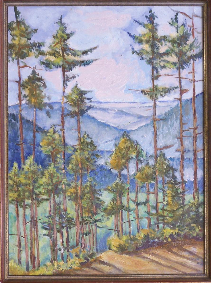 Oil Paintings By Austin Pettit Cabin Landscapes