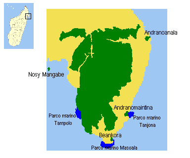 Madagaskar Karte Nationalparks.Masoala National Park Wikipedia