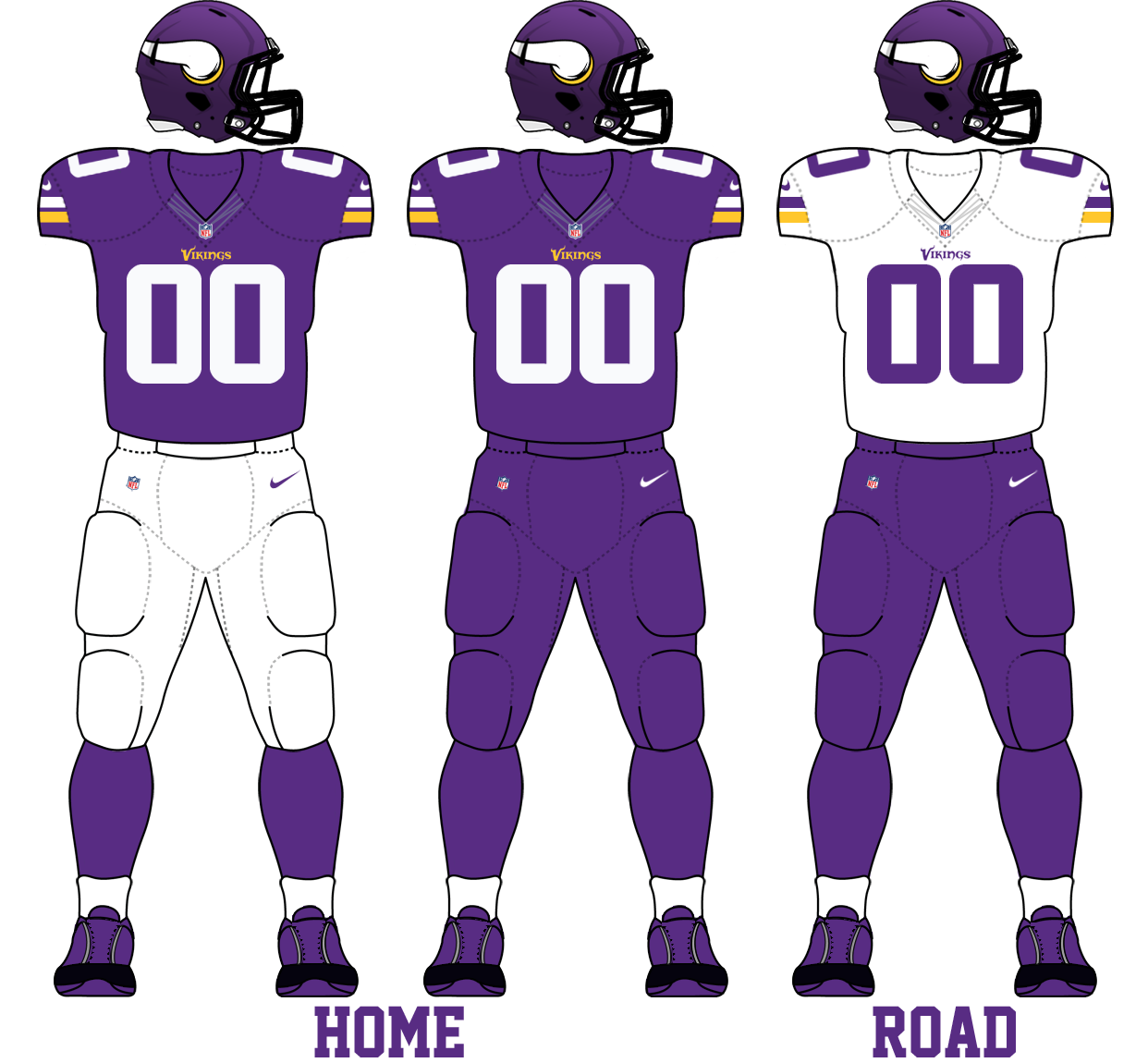 Description Minnesota Vikings 2013 Uniforms.png