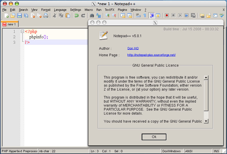 how to use notepad on mac