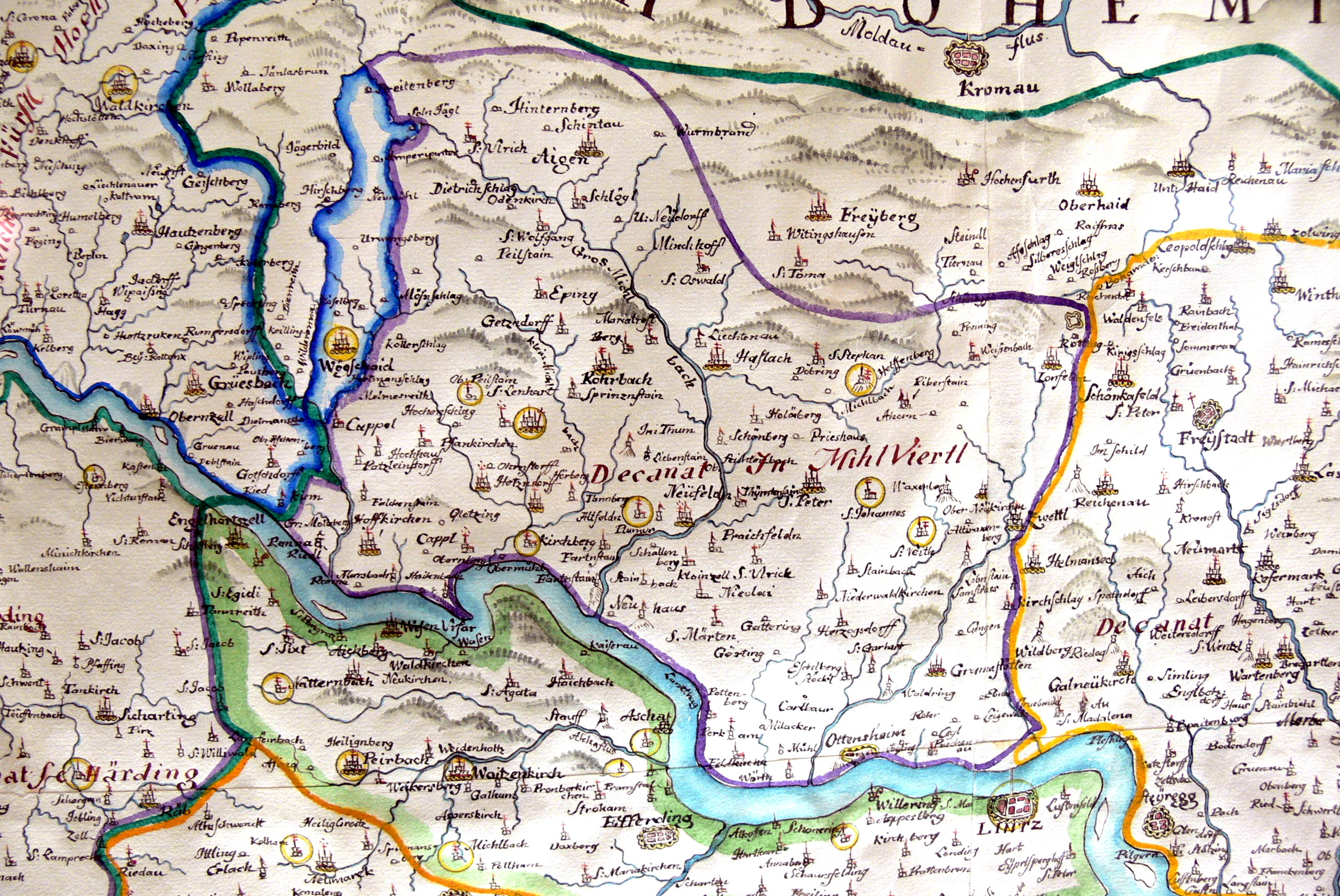 mühlviertel karte File:OHM   Karte Bistum Passau 1 Mühlviertel.   Wikimedia Commons