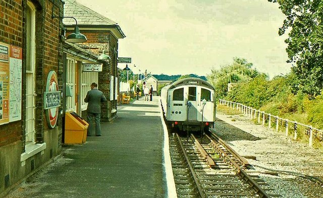 Ongar railway station in 1980
