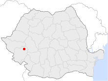 Location of Oțelu Roșu