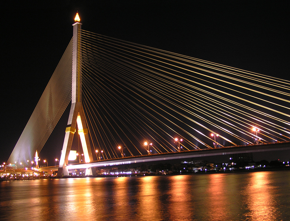 Cool Bridges At Night