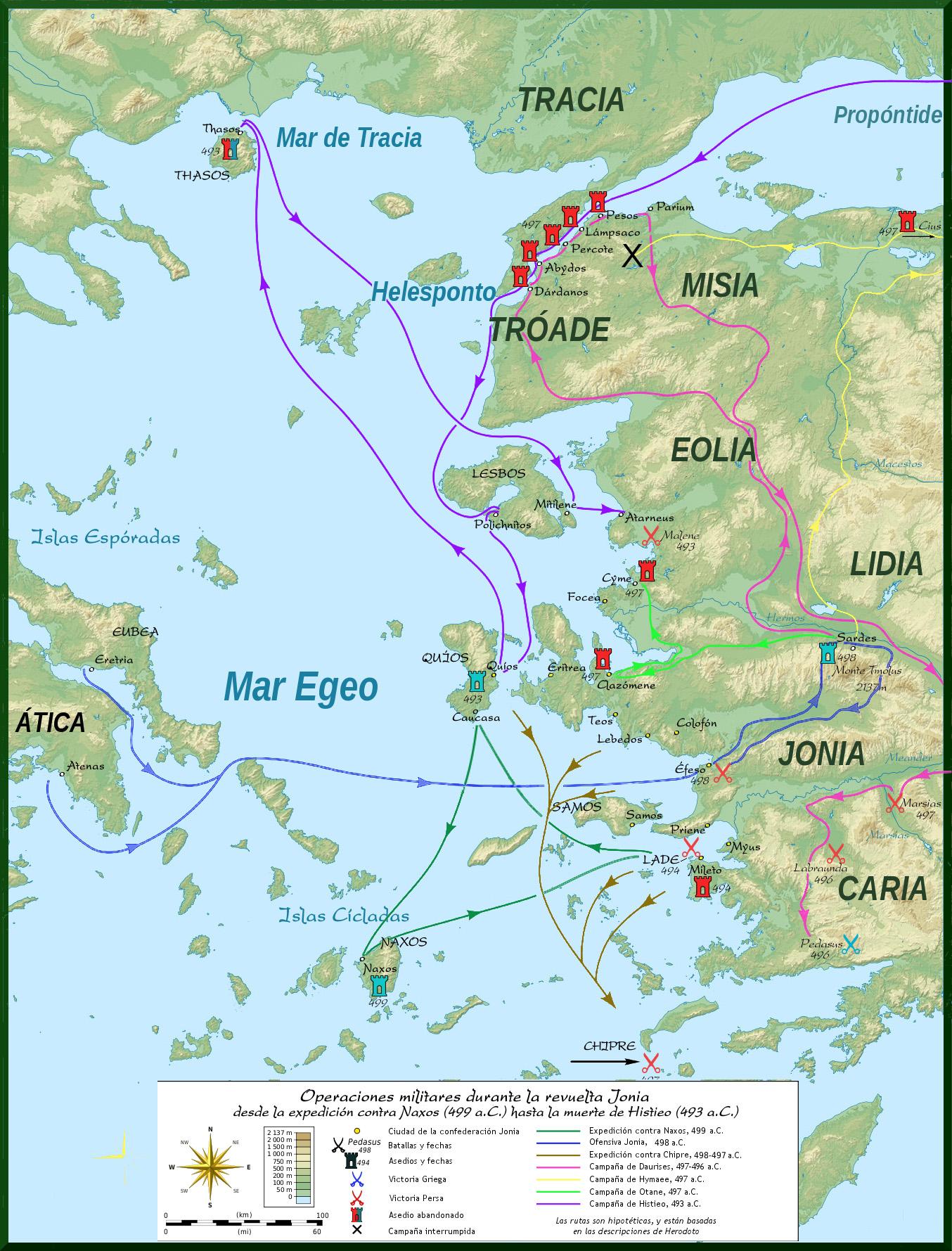 Depiction of Sitio de Naxos