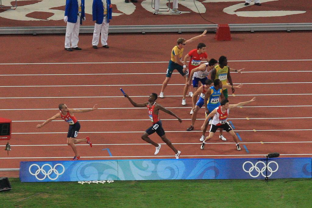 Varldsrekord pa 100 m inomhus