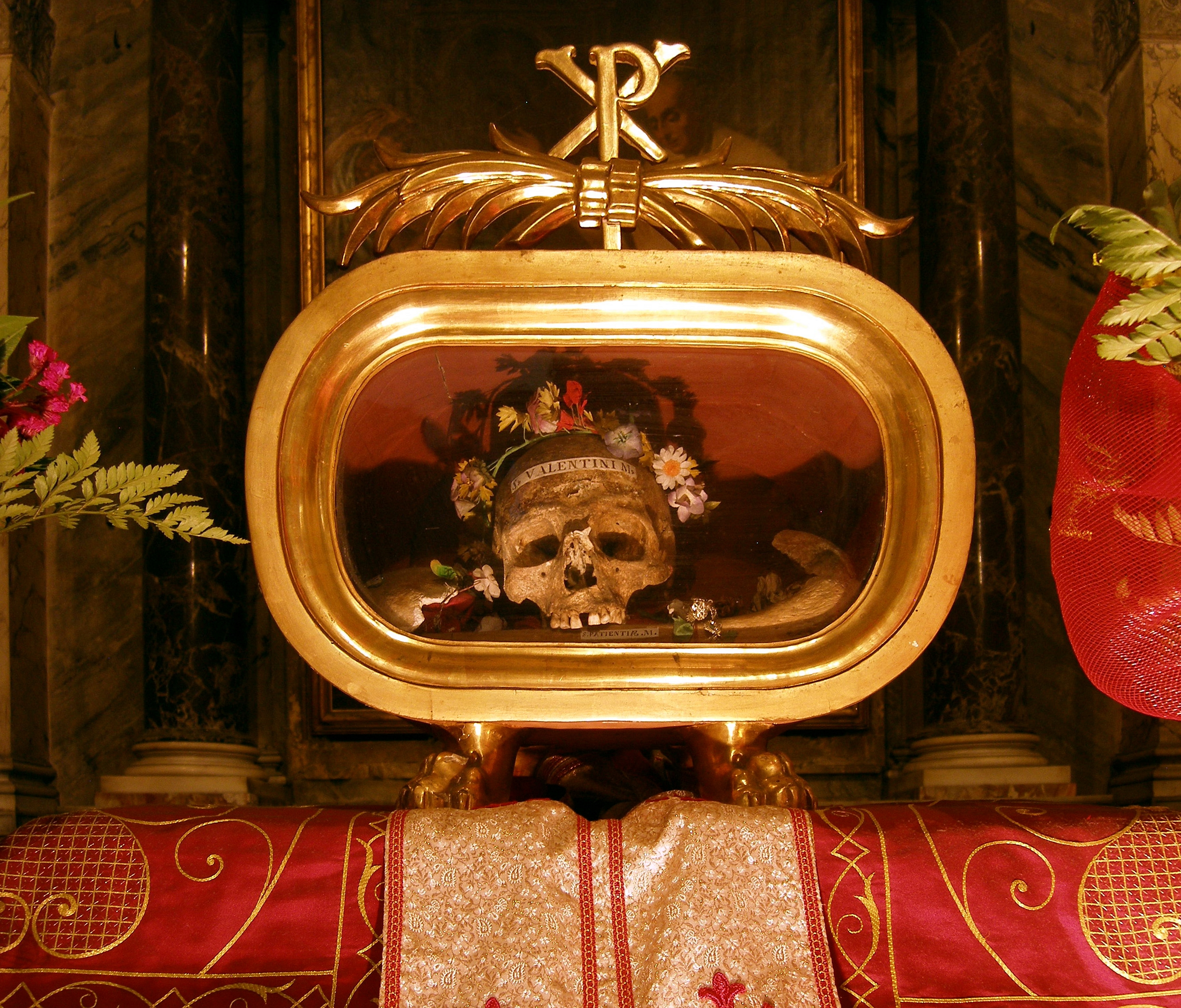 Image result for St. Valentine skull