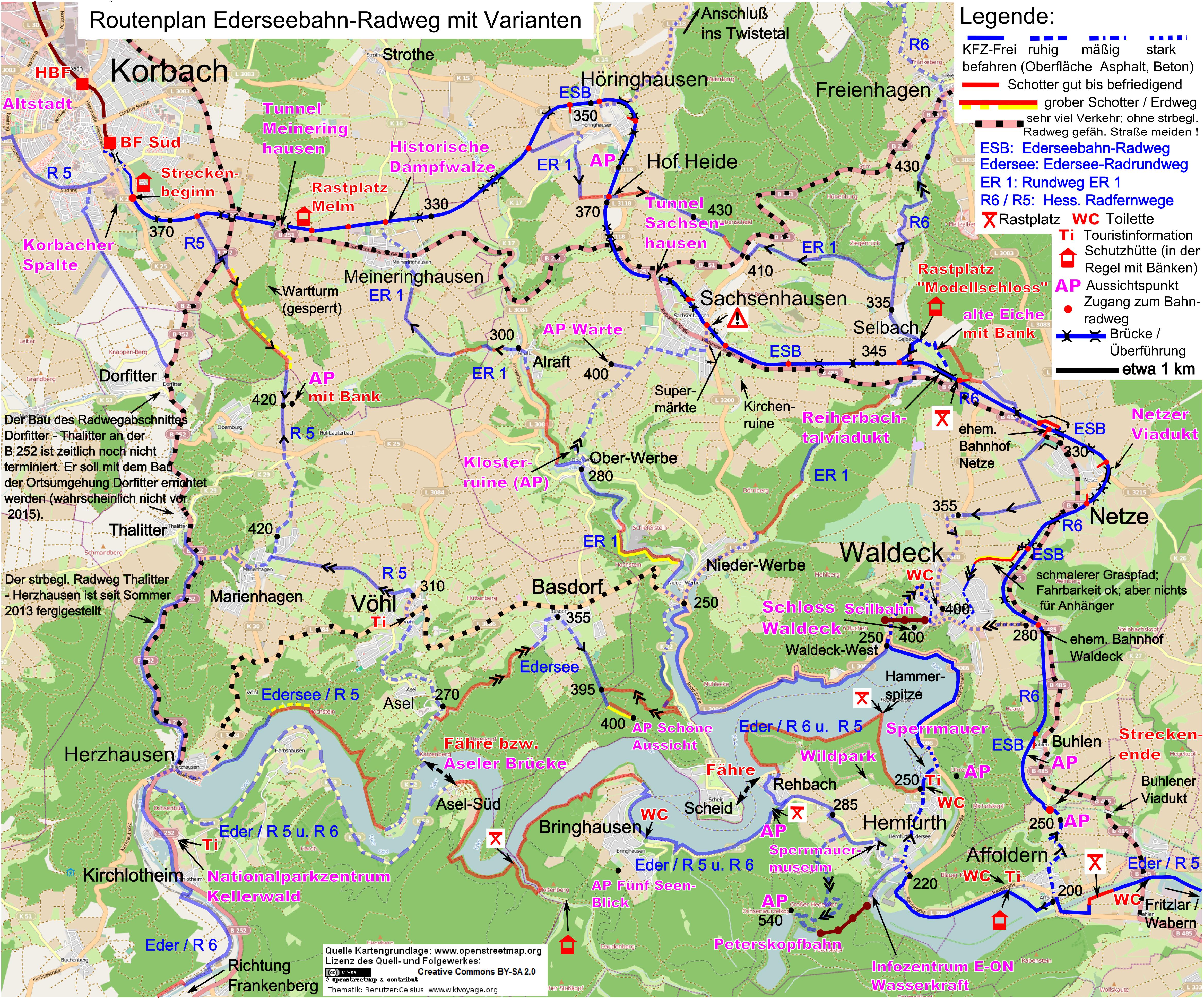 Saale Radweg Karte.Edersee Radtour Drupal