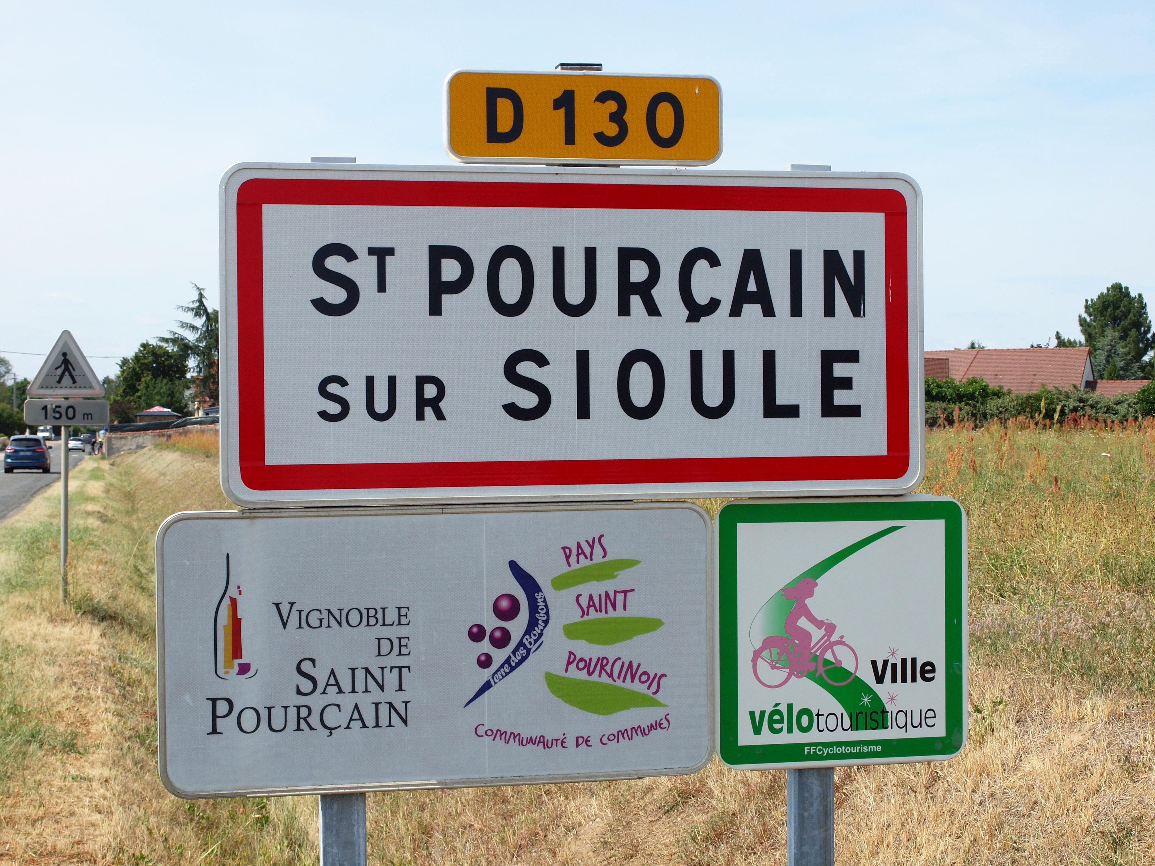 """Résultat de recherche d'images pour """"images St-Pourçain-sur-Sioule panneau"""""""