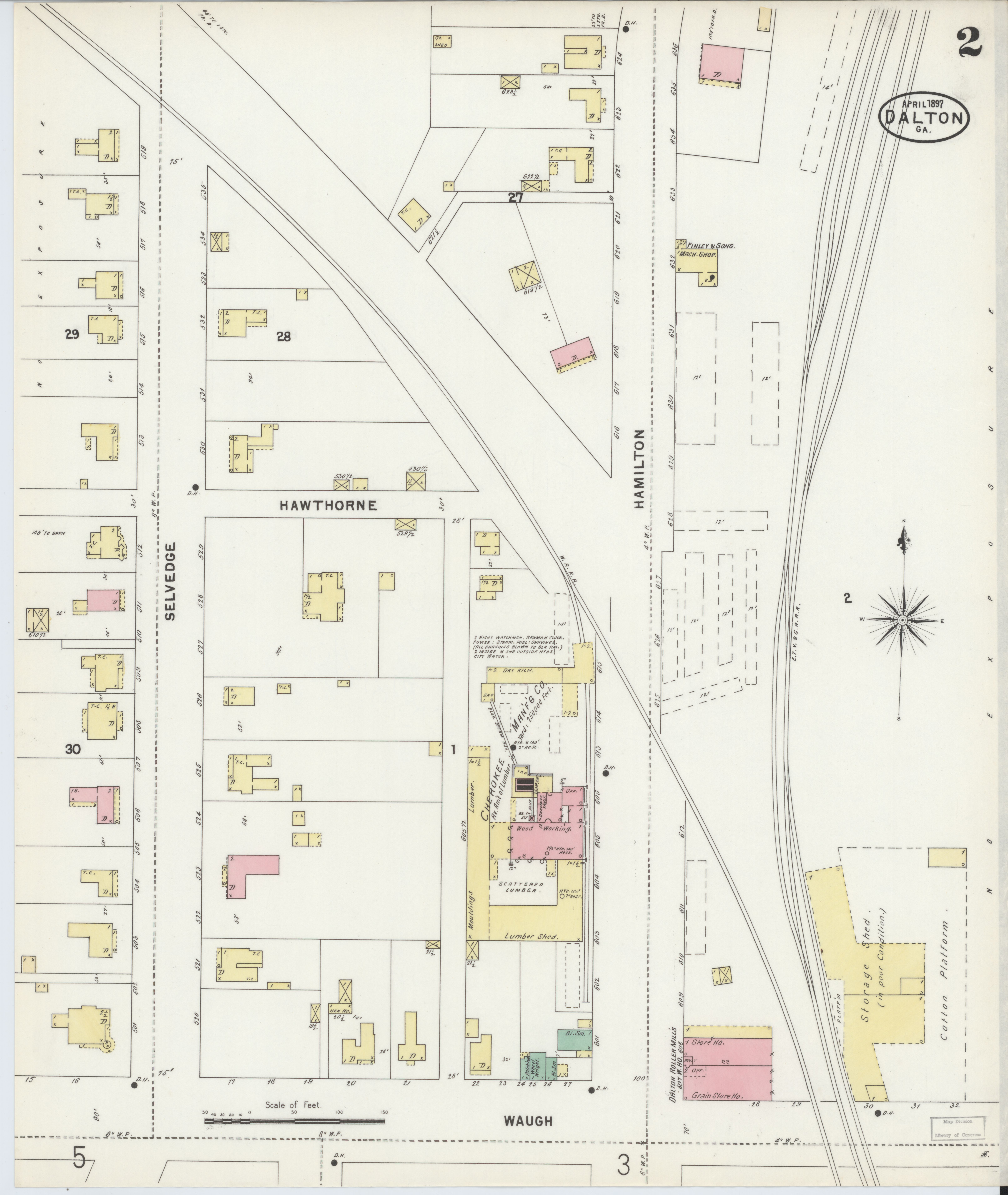 Map Of Georgia Fire.File Sanborn Fire Insurance Map From Dalton Whitfield County