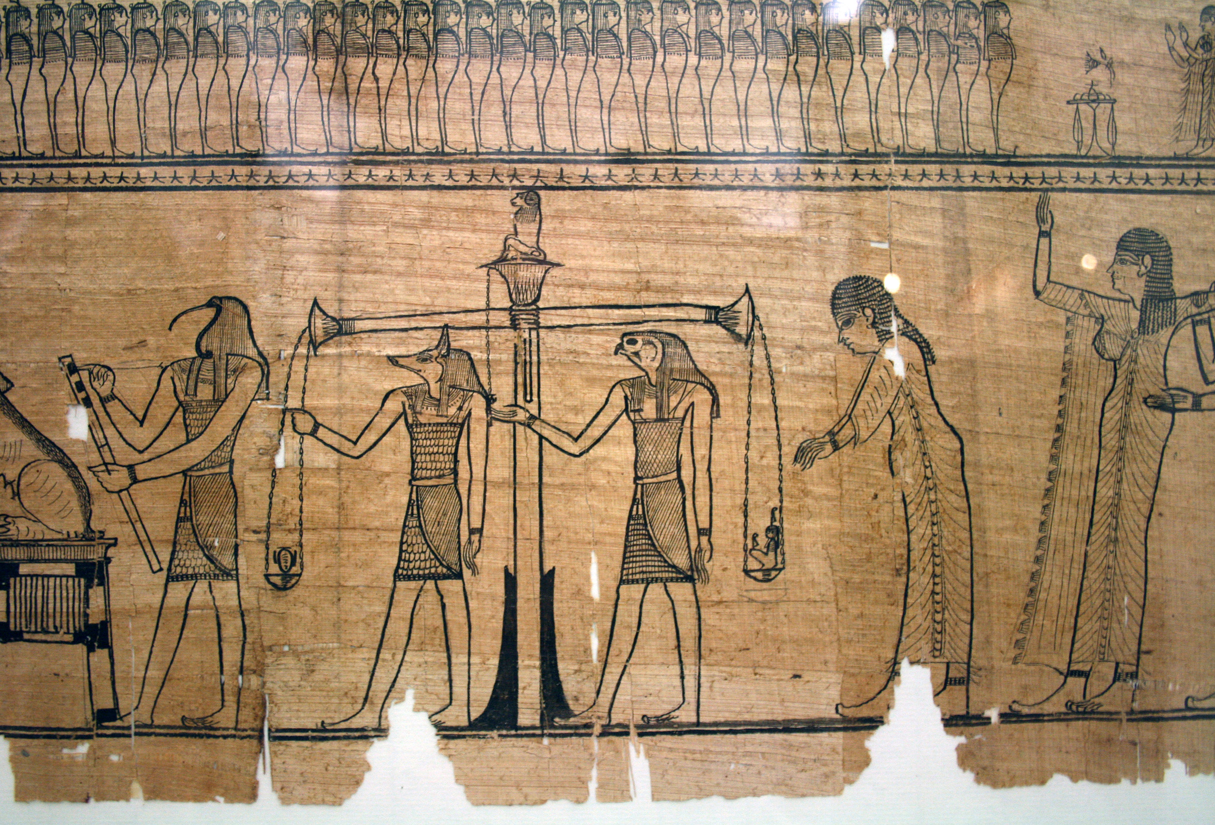Reu nu pert em hru — Capítulos do Sair à Luz (Livro dos Mortos) Sesostris'_boook_of_the_dead,_Papyrusmuseum_Wien