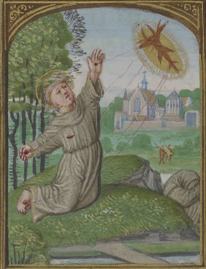 St. Francis Receiving the Stigmata, Book of Hours ( Belgium, ca. 1525–30). The Morgan Library & Museum.