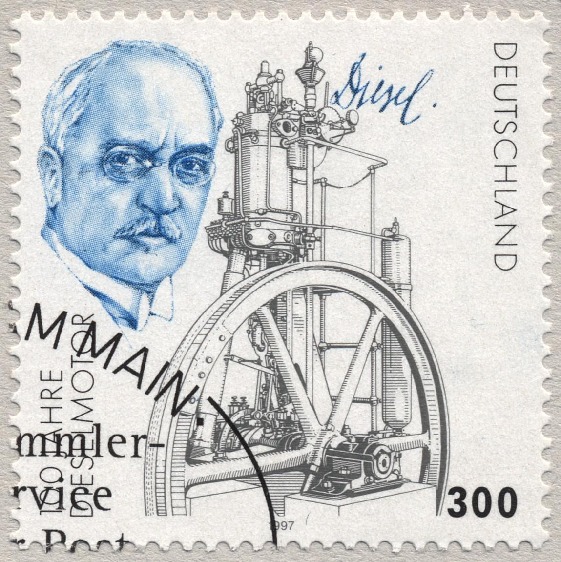 Un timbre en l'honneur de Rudolf Diesel