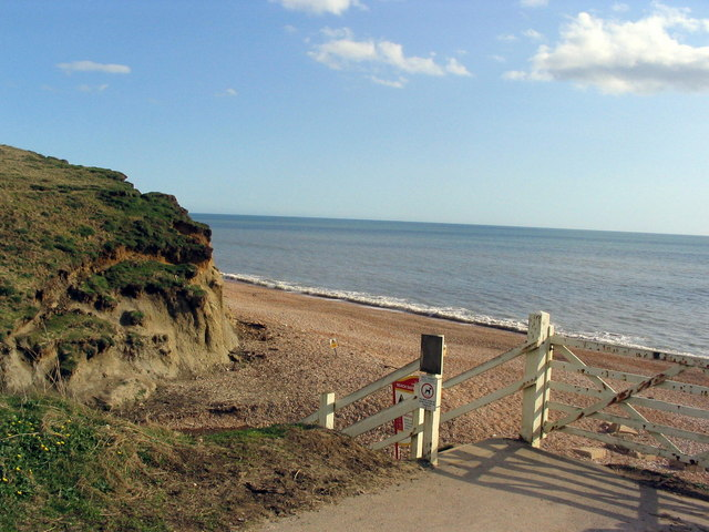 Steps to the beach at Eype - geograph.org.uk - 365146