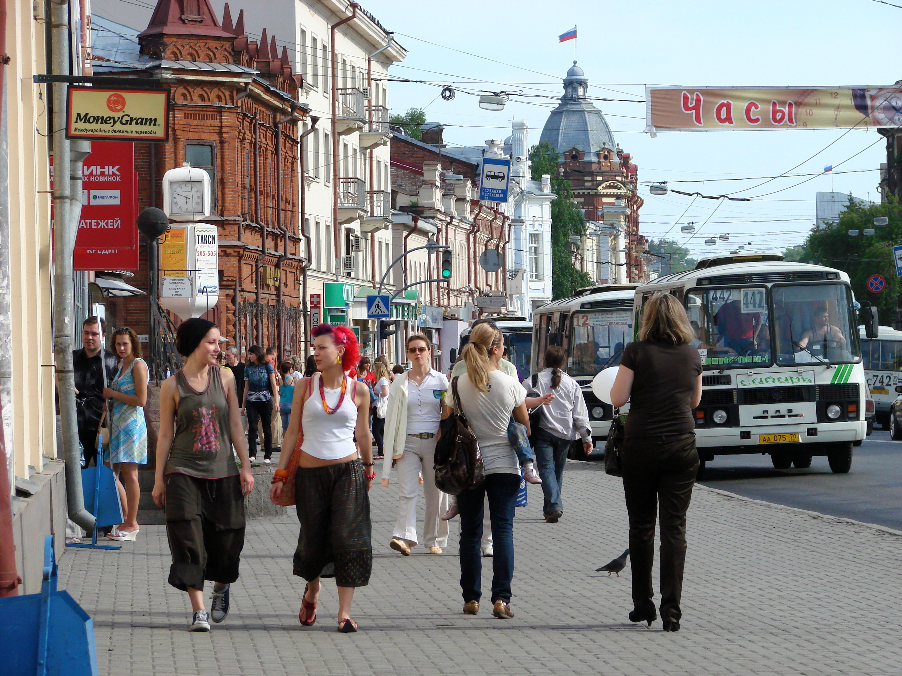 Description street scene in tomsk russia jpg