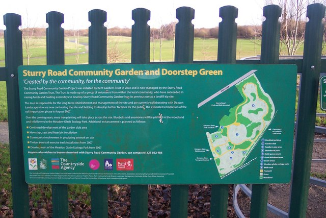 File:Sturry Road Community Garden Information Board - geograph org