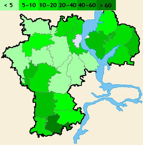 Распределение населения
