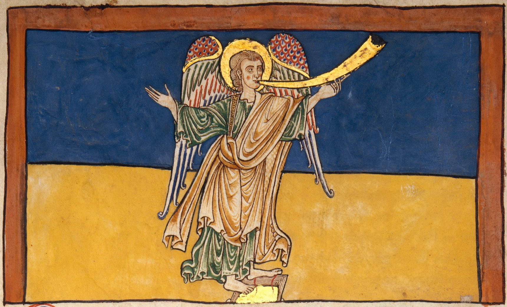 The Seventh Angel of the Apocalypse Proclaiming the Reign of the Lord - c. 1180