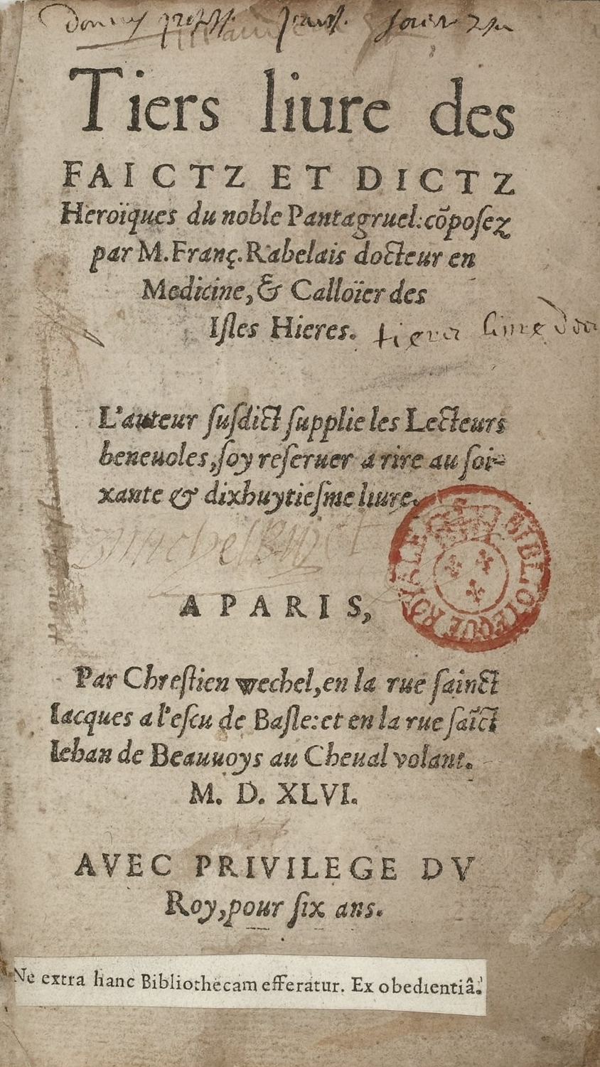 Image result for rabelais tiers livre