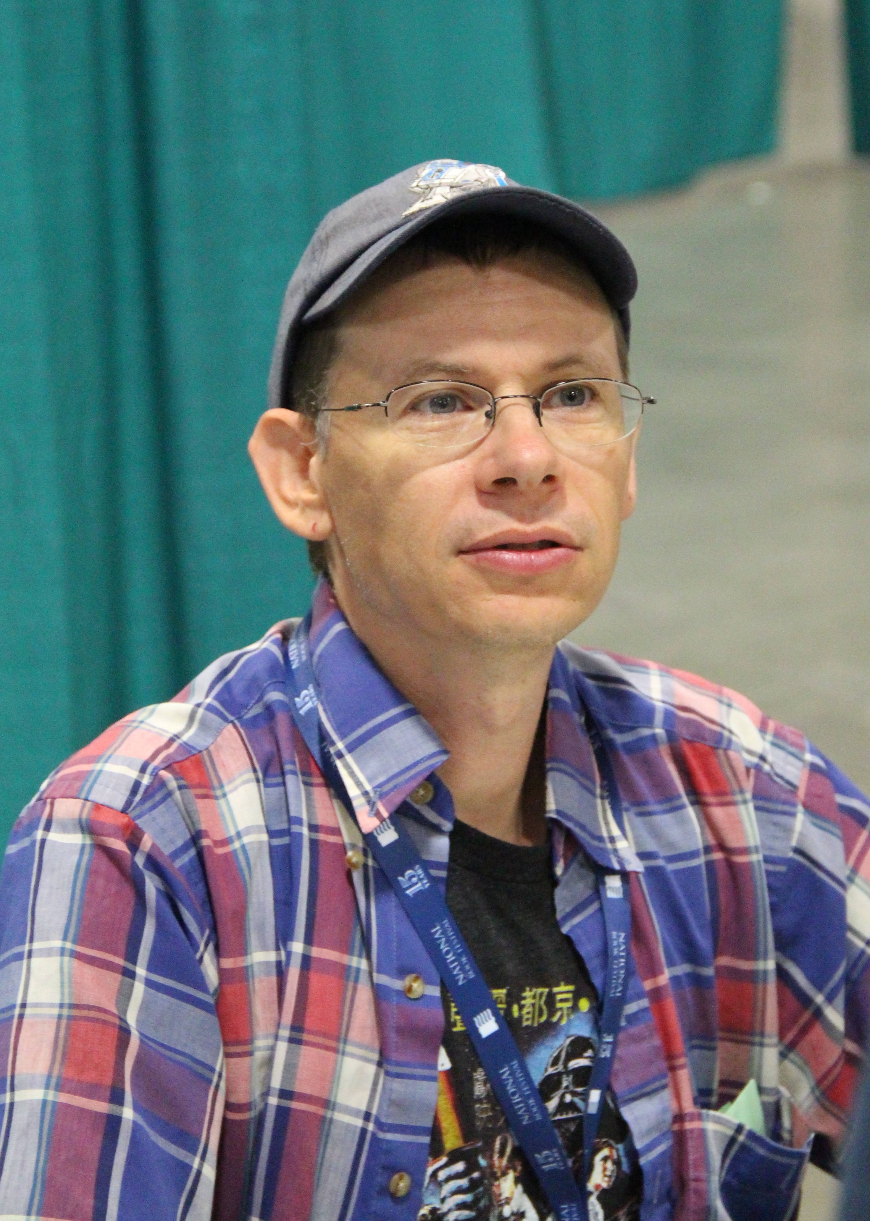 Angleberger at the 2015 National Book Festival