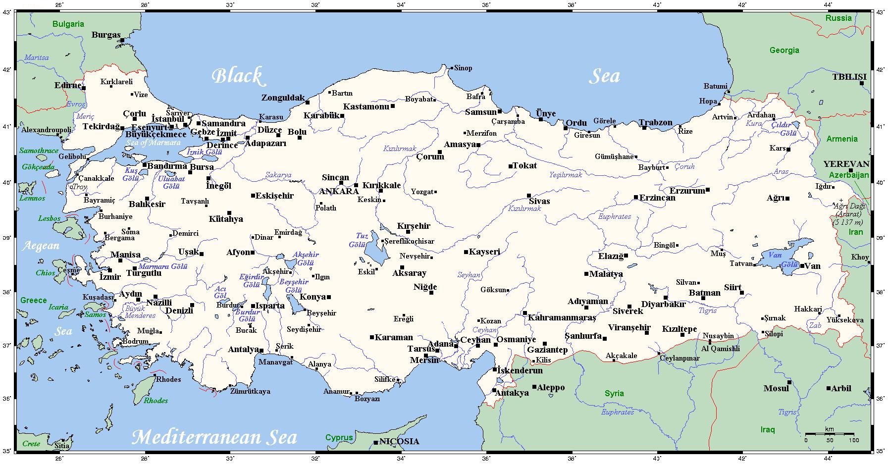 Türkische ägäis Karte.Grenze Zwischen Griechenland Und Der Türkei Wikipedia