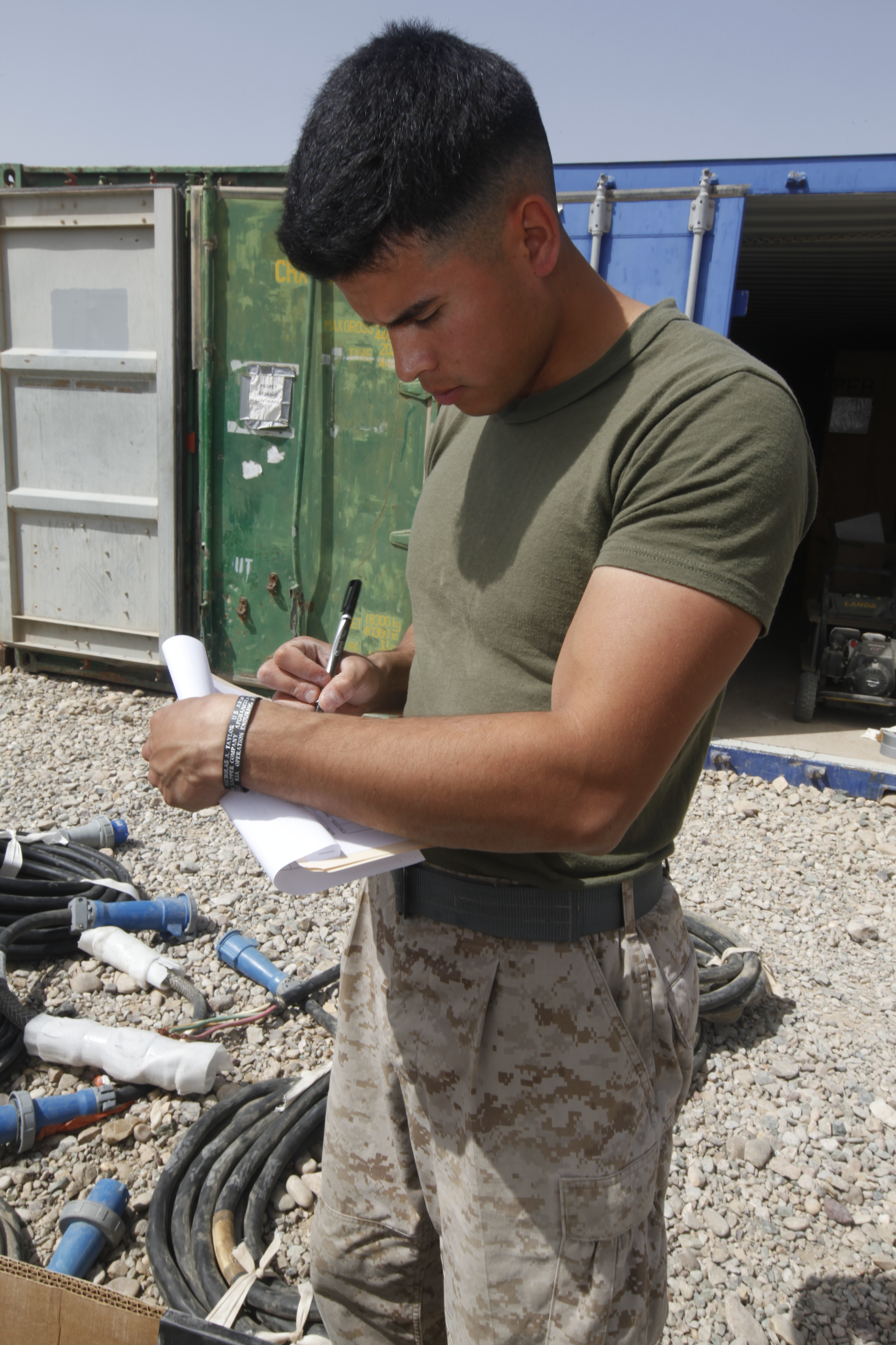 file u s marine corps cpl caleb p armenta an electrician with marine wing support squadron