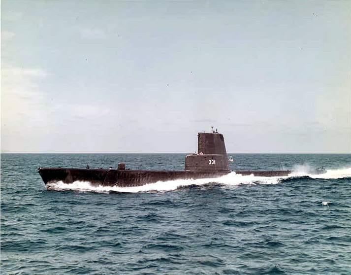 Bugara (SS-331) underway, c. 1969.